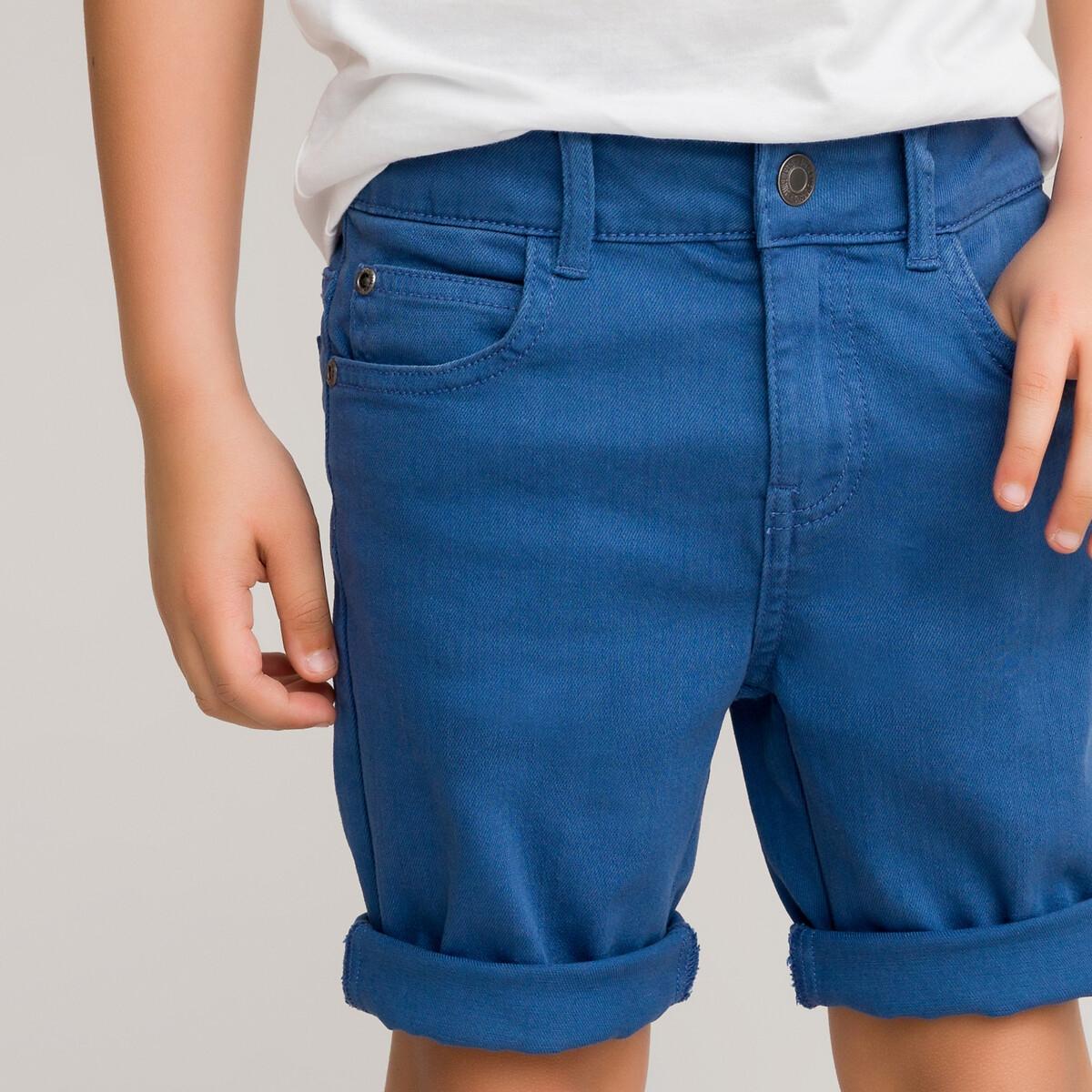 Бермуды LaRedoute Из джинсовой ткани 3-12 лет 8 синий