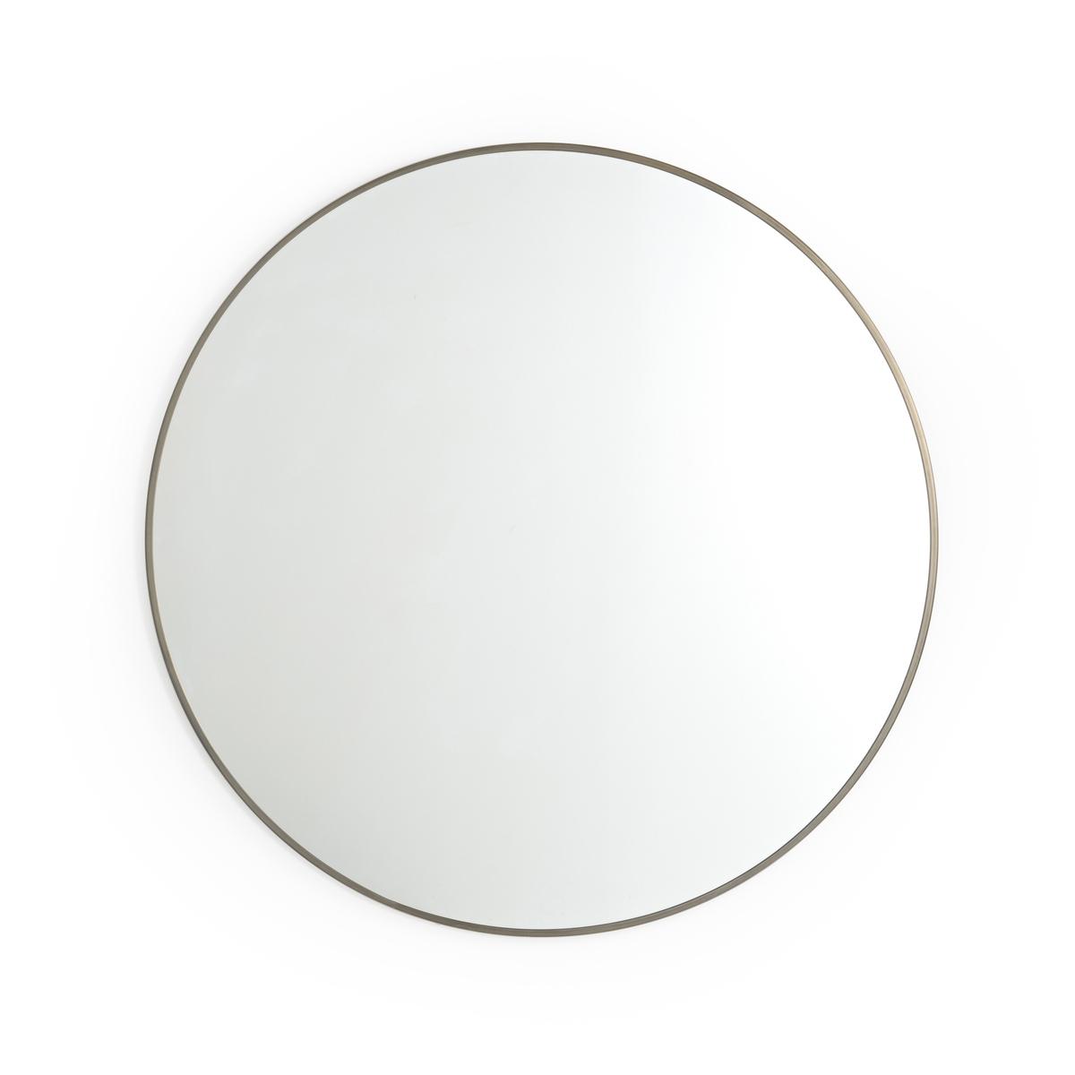 Зеркало La Redoute Металлическое золотистого цвета см Caligone единый размер каштановый
