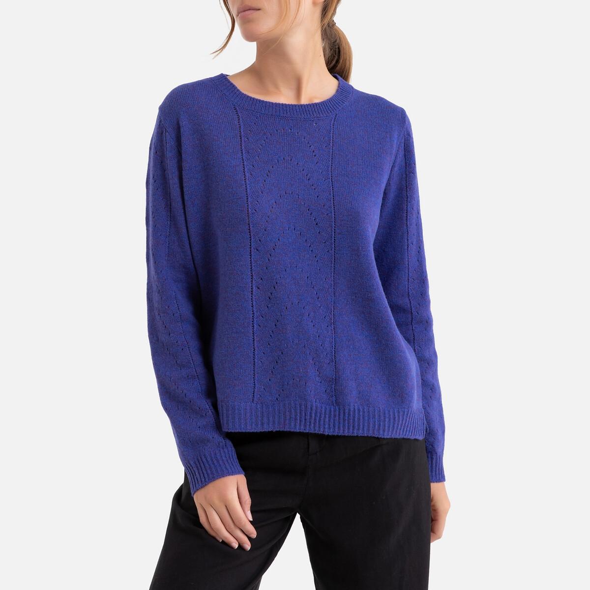Фото - Пуловер La Redoute С круглым вырезом из тонкого трикотажа 2(M) синий пуловер la redoute с v образным вырезом из тонкого трикотажа florestine 2 m серый