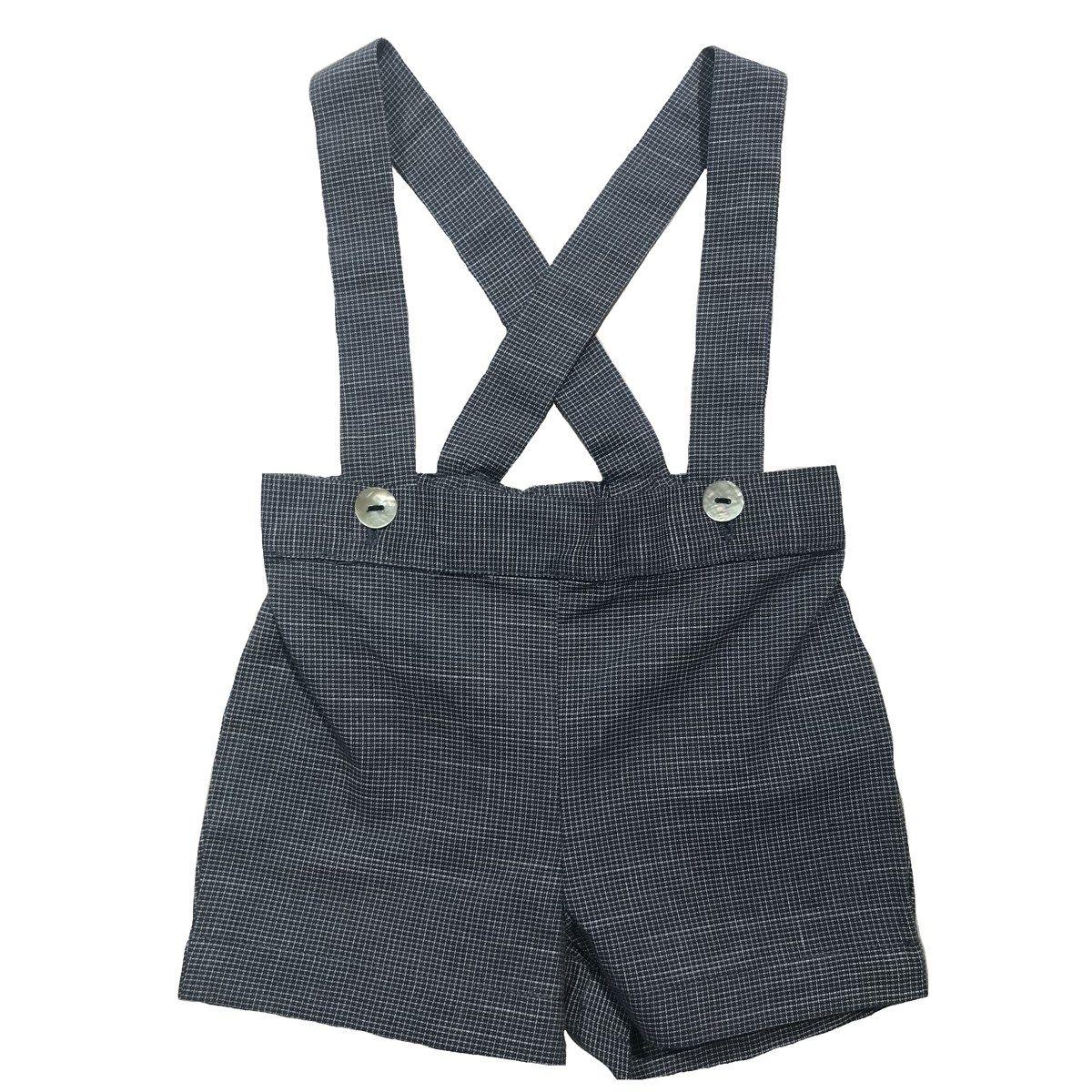 Culotte courte à bretelles en coton  JULES