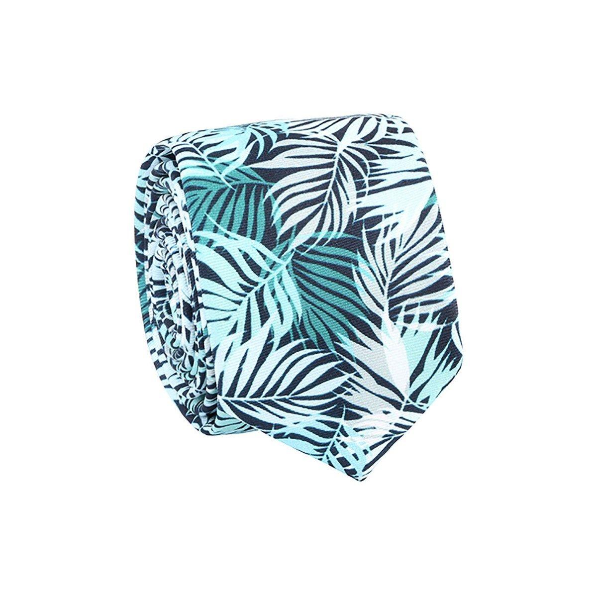 Cravate 100% soie imprimé tropical