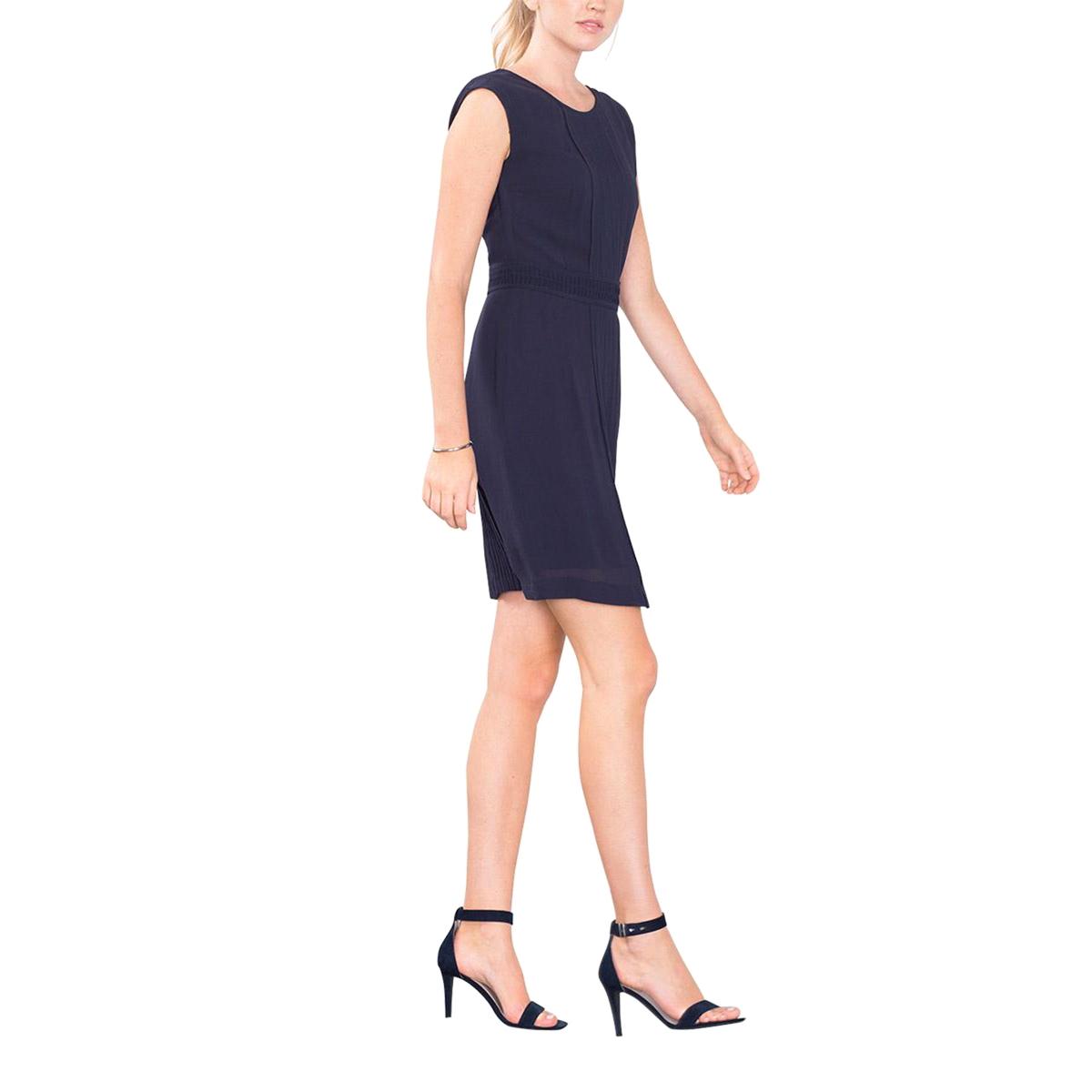 Платье из крепа со складкамиСостав и описаниеМатериал : креп из 100% полиэстера.Марка : EspritУходСледуйте инструкции по уходу на этикетке<br><br>Цвет: темно-синий<br>Размер: 36 (FR) - 42 (RUS).38 (FR) - 44 (RUS)
