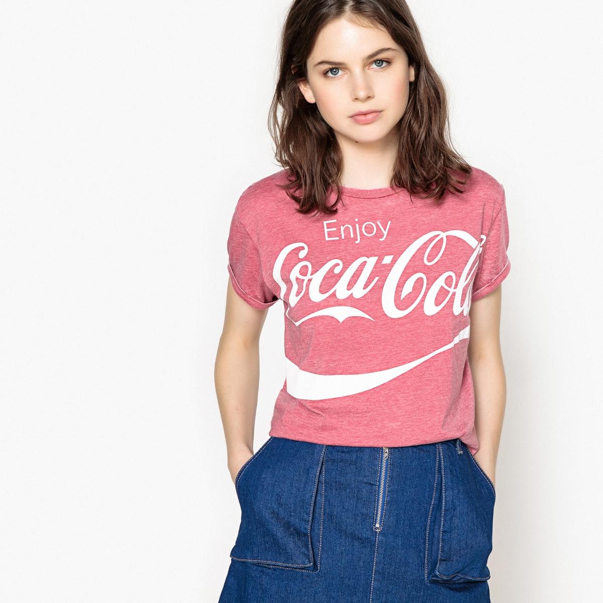 T-shirt estampada com gola redonda, mangas curtas