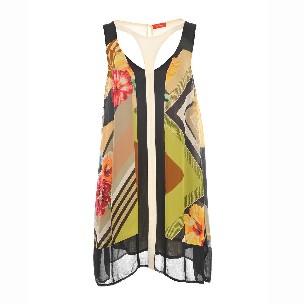 Платье без рукавов с принтом RENE DERHYСостав и описание :Материал : 100% вискозы.Марка : RENE DERHY<br><br>Цвет: зеленый<br>Размер: S