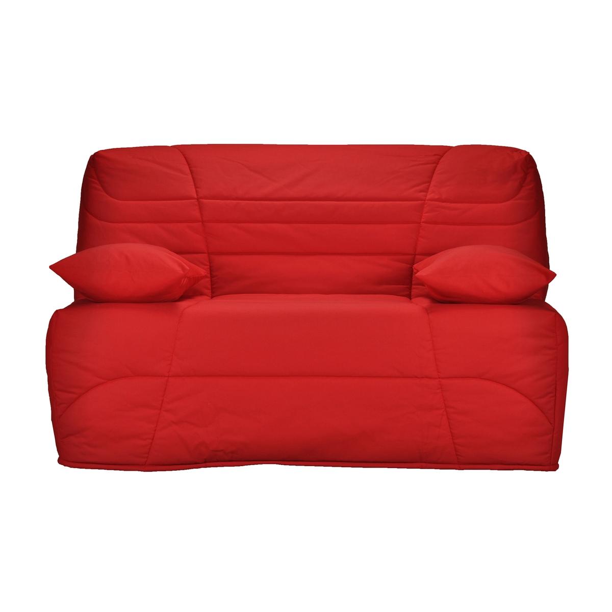 Чехол La Redoute Стеганый для дивана-книжки толщина см 90 x 190 см красный