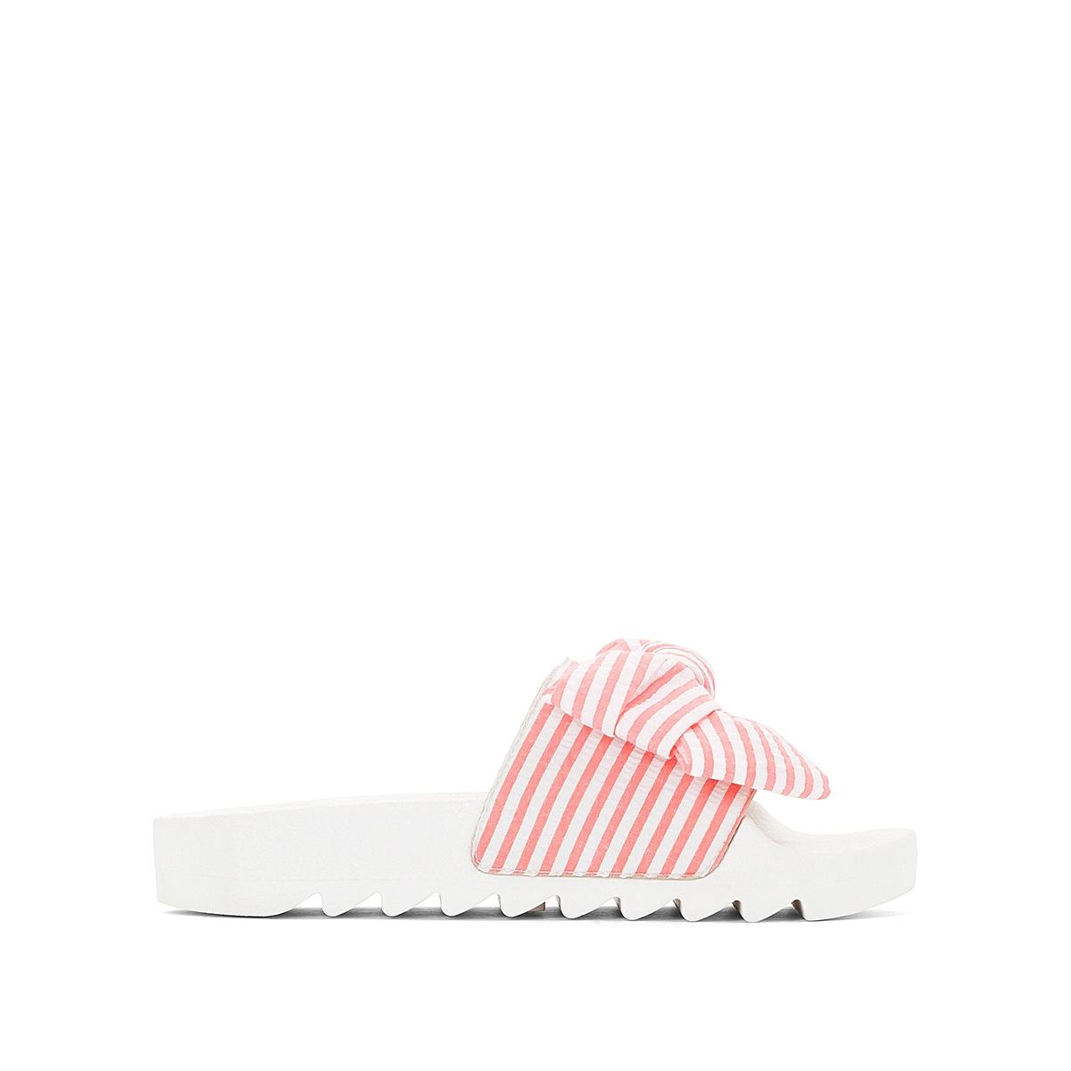 Туфли без задника синтетические, IsabelaДетали •  Туфли без задника. •  Высота каблука: 2 см. •  Застежка: без застежки. •  Открытый мысок. •  Гладкая отделка.Состав и уход •  Верх: 100% текстиль. •  Подкладка: 100% синтетический материал. •  Стелька: 100% синтетический материал. •  Подошва: 100% синтетический материал.<br><br>Цвет: розовый<br>Размер: 39