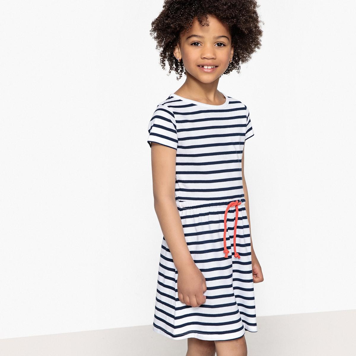 Платье в полоску, 3-12 лет