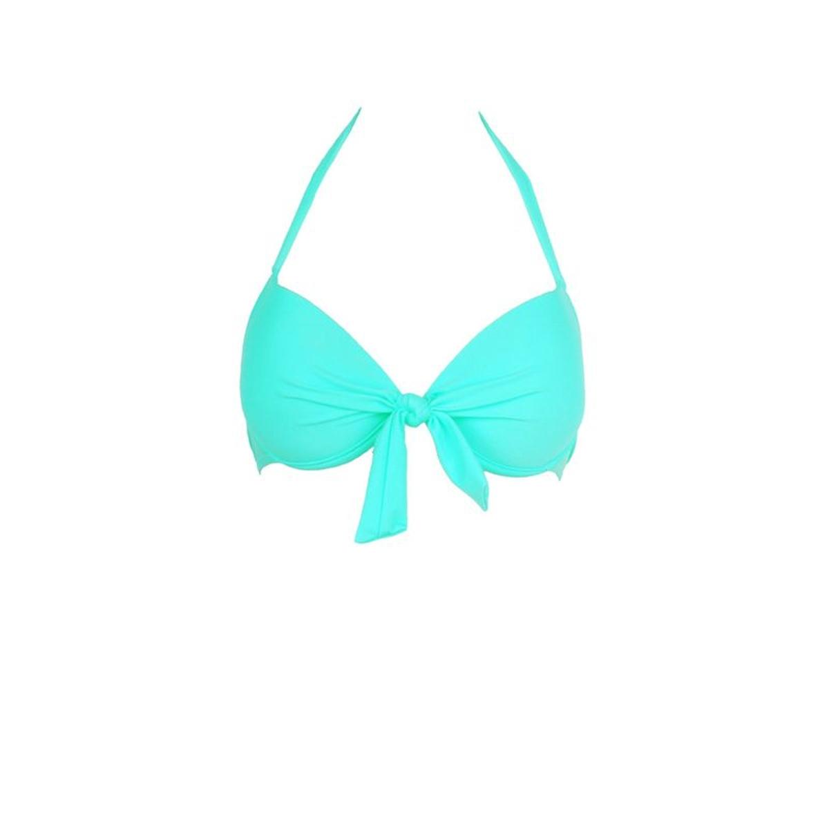 Mon Push-up Bikini vert émeraude (Haut)
