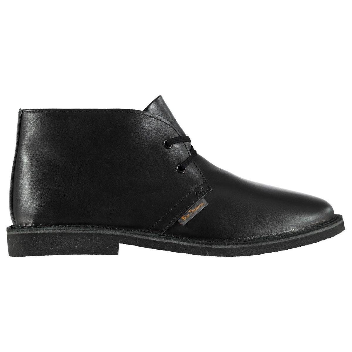 Désert bottes à lacets en cuir