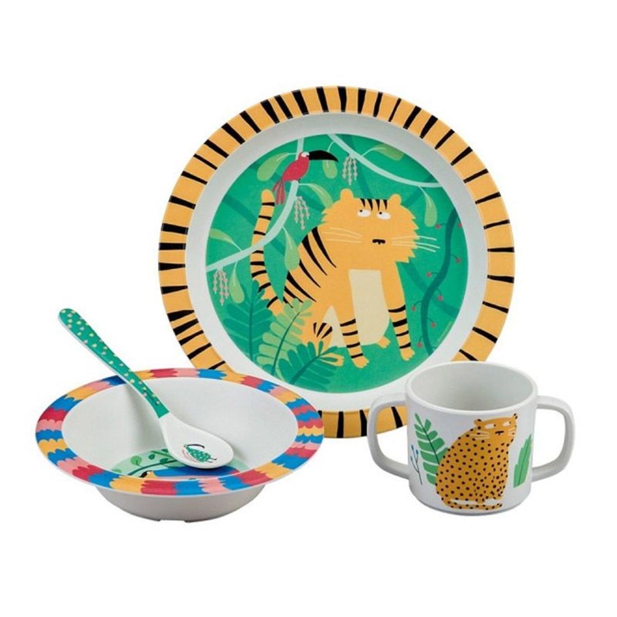 Coffret cadeau La jungle : 4 pièces repas