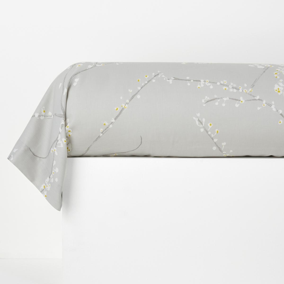 Наволочка La Redoute На подушку-валик из хлопка NATSUMI 85 x 185 см белый чехол la redoute на подушку валик ecaille 45 x 45 см синий