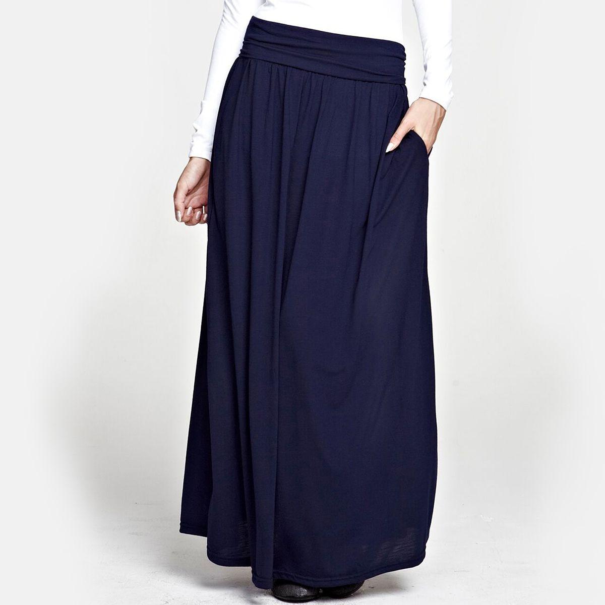 Jupe longue avec taille repliable