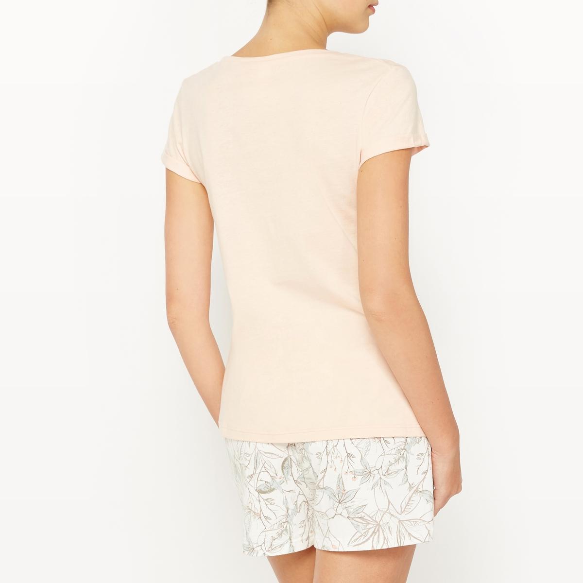 Пижама с шортами хлопковая SAFARIСостав и описаниеМатериалы : 100% хлопокМарка : SKINY<br><br>Цвет: розовый