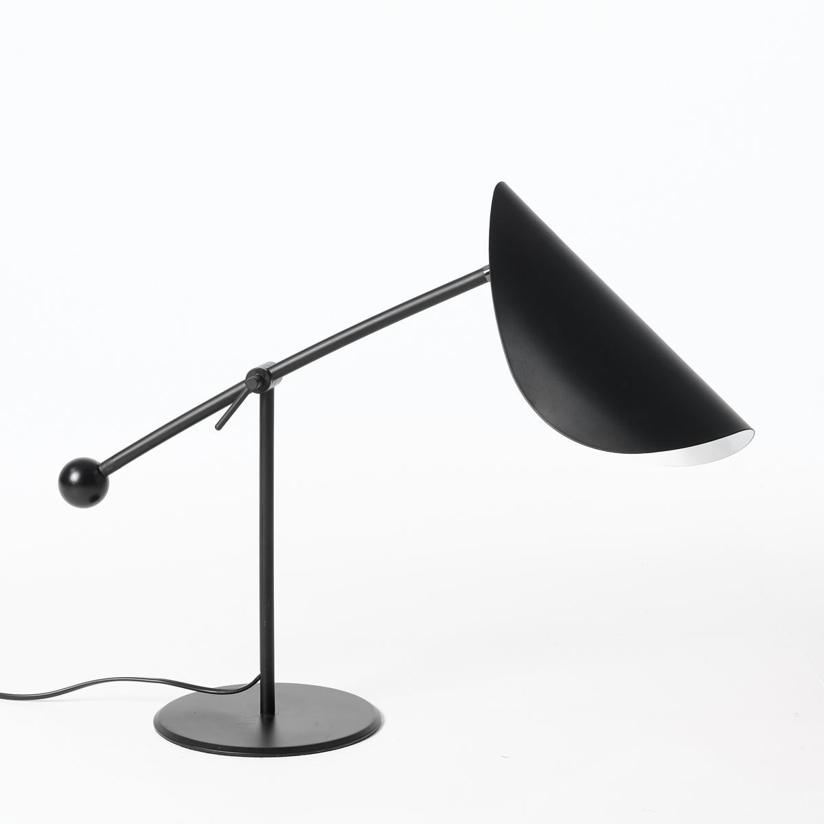 Лампа настольная FunambuleНастольная лампа Funambule. Тонкая и воздушная форма, вдохновленная движущимися объектами и природой, поворачивающийся абажур в форме листа.Характеристики :Из металла с матовым эпоксидным покрытием- Патрон E14 для компактной флуоресцентной лампы макс. 8 Вт (non fournie)- Совместима с лампами класса энергопотребления A Размеры :- Ш.30 x В.67 x Г.27 см.<br><br>Цвет: серо-бежевый,черный