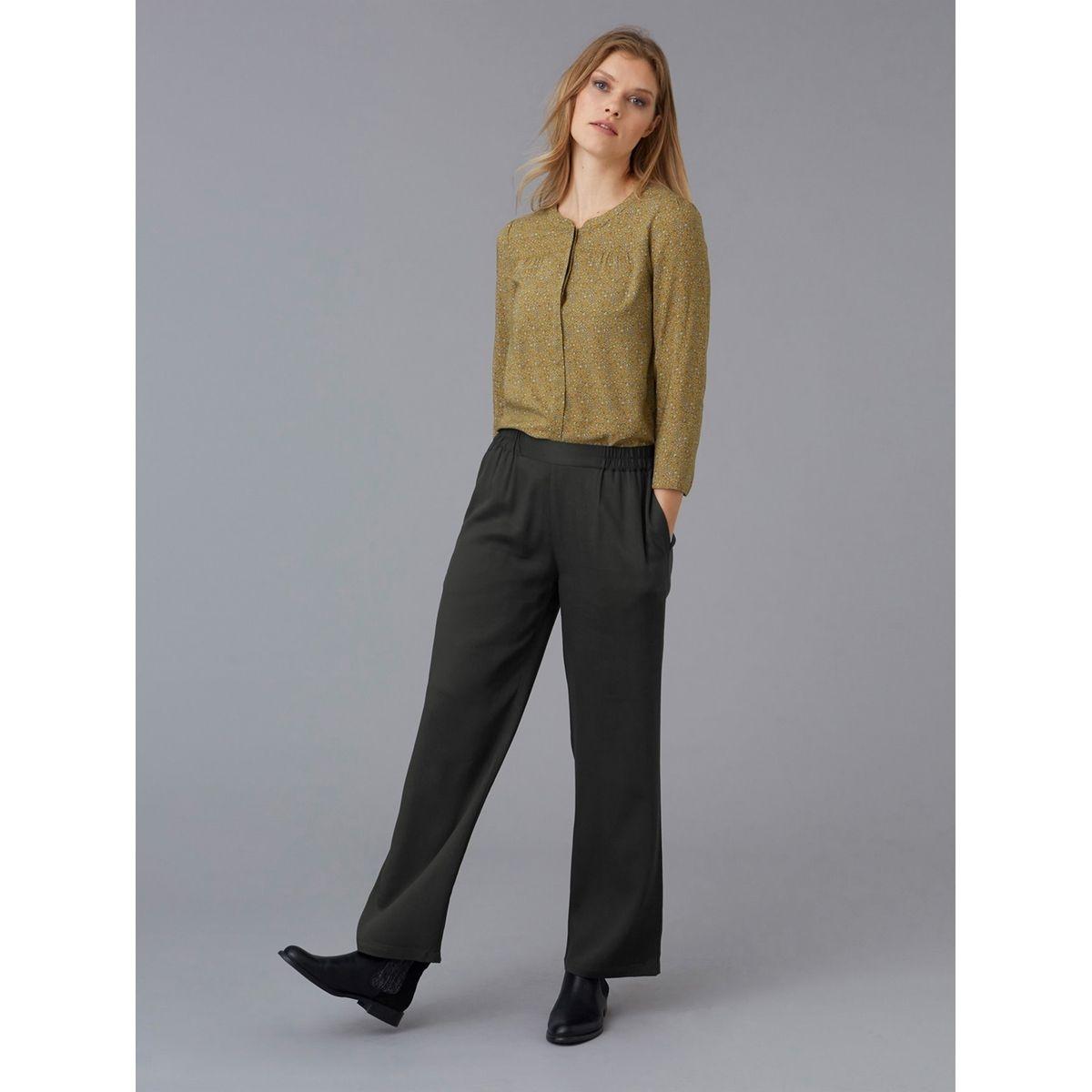 Pantalon femme twill viscose droit 7/8ème, MAZAN