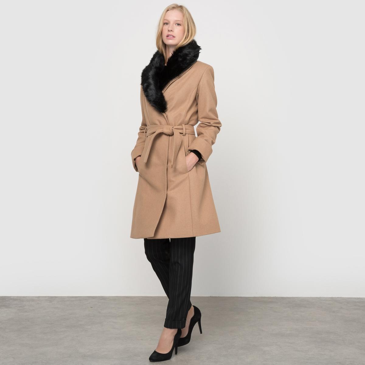 Пальто с завязками и шалевым воротником тренч с шалевым воротником пояс с завязками desigual chaq bea