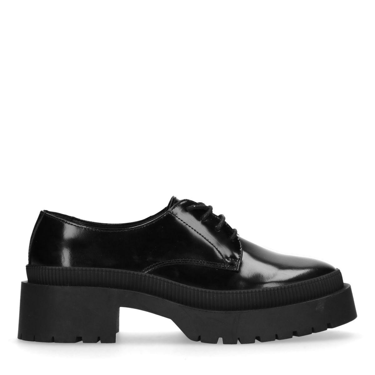 Chaussures à lacets en cuir avec semelle plateforme