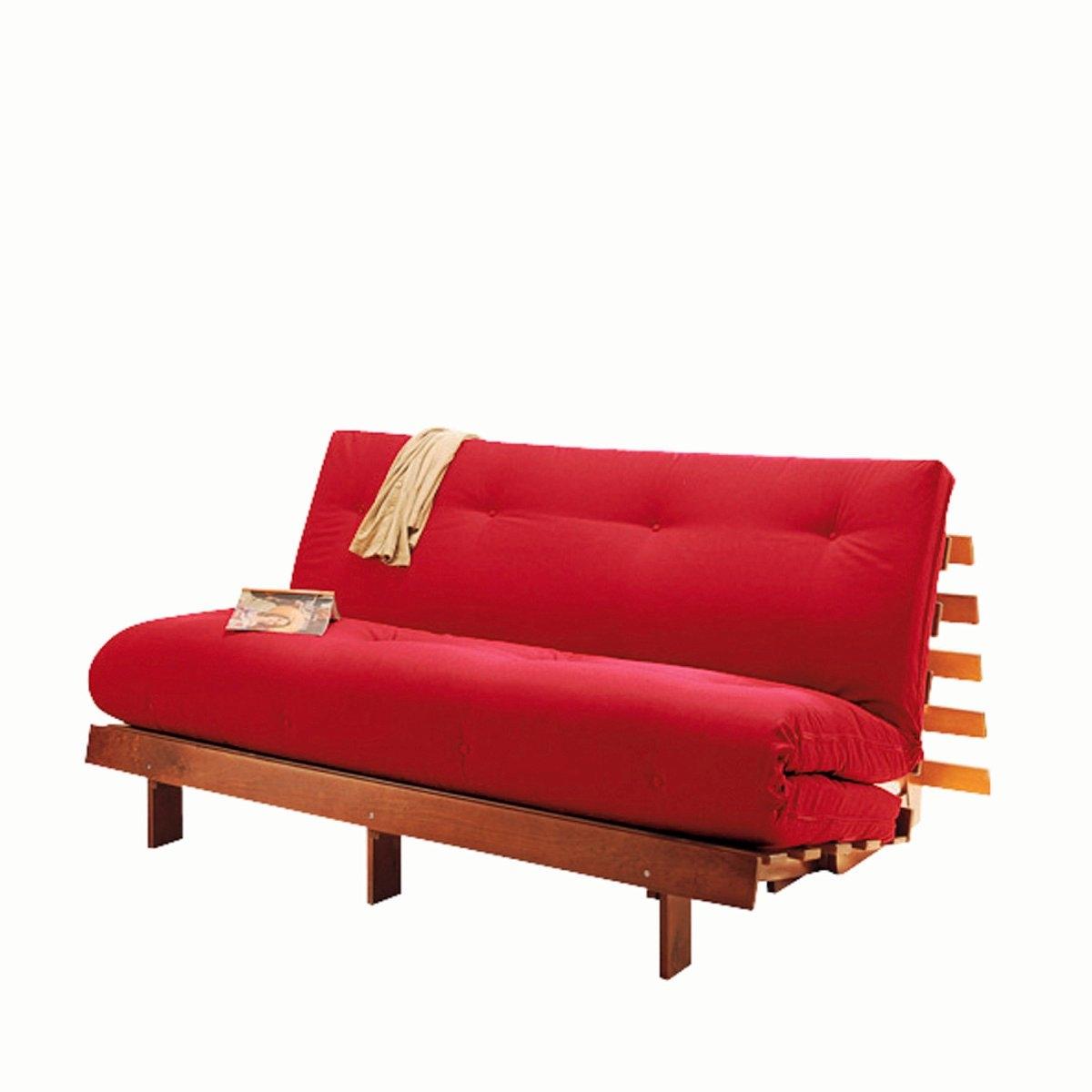Матрас La Redoute Хлопчатобумажный с покрытием из латекса шерсти и льна для скамейки THA 160 x 200 см красный семеня льна компас здоровья 200 г
