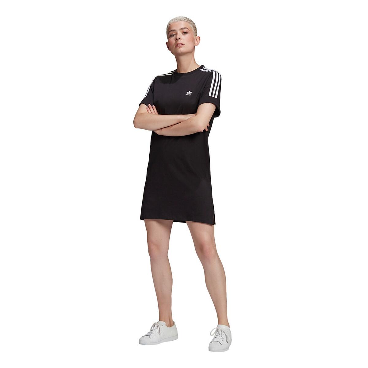 ADIDAS - Adidas Originals Vestido tipo t-shirt com listas e logótipo