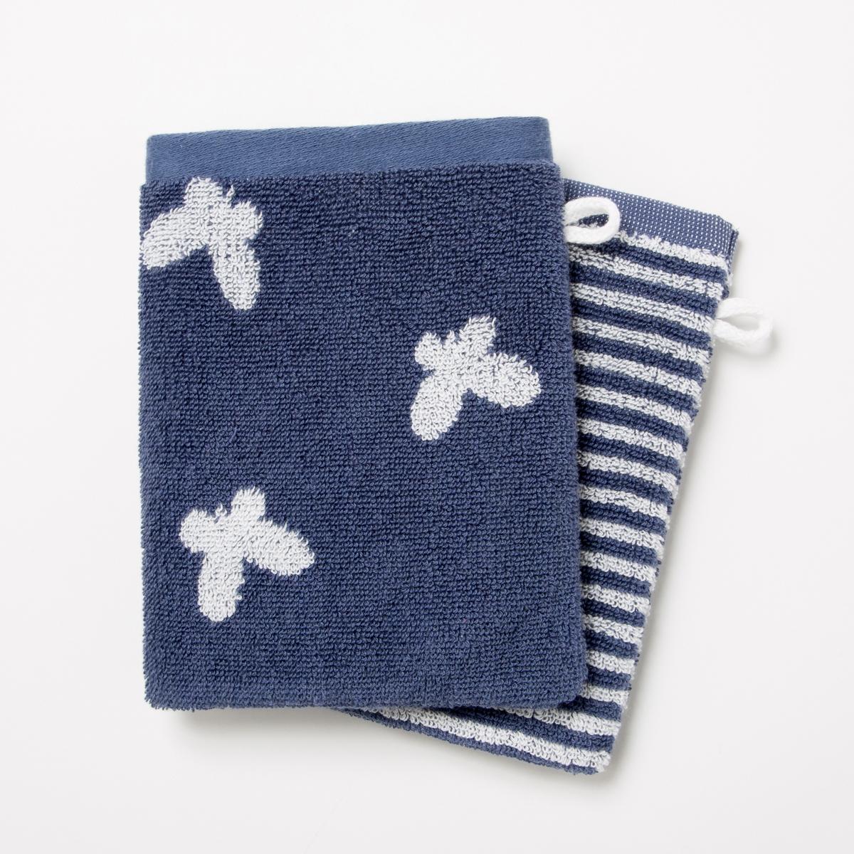 Комплект из 2 банных рукавичек из махровой ткани, 500 г/м² - CANELO (lot de 2)