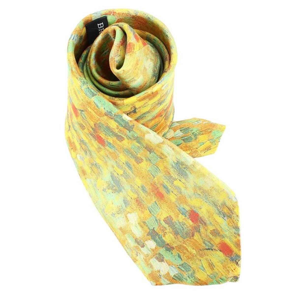 Cravate Lyonnaise  en soie  PICASSO MARGOT, Made in France