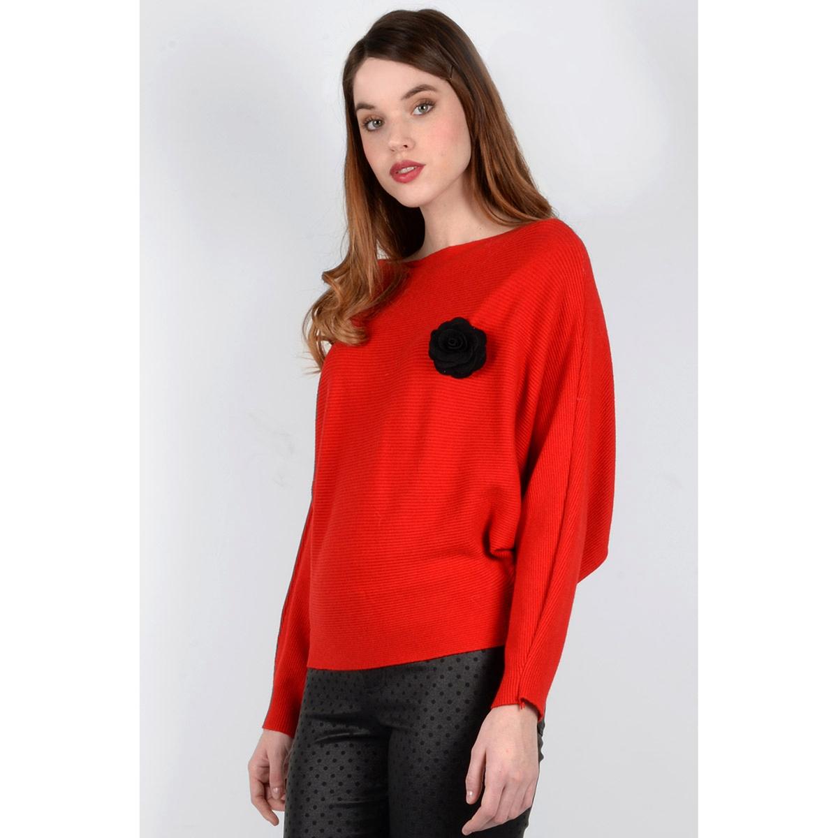 Пуловер с круглым вырезом из тонкого трикотажаДетали •  Длинные рукава •  Круглый вырез •  Тонкий трикотаж  •  Рисунок спередиСостав и уход •  35% хлопка, 65% полиэстера    •  Следуйте советам по уходу, указанным на этикетке<br><br>Цвет: красный