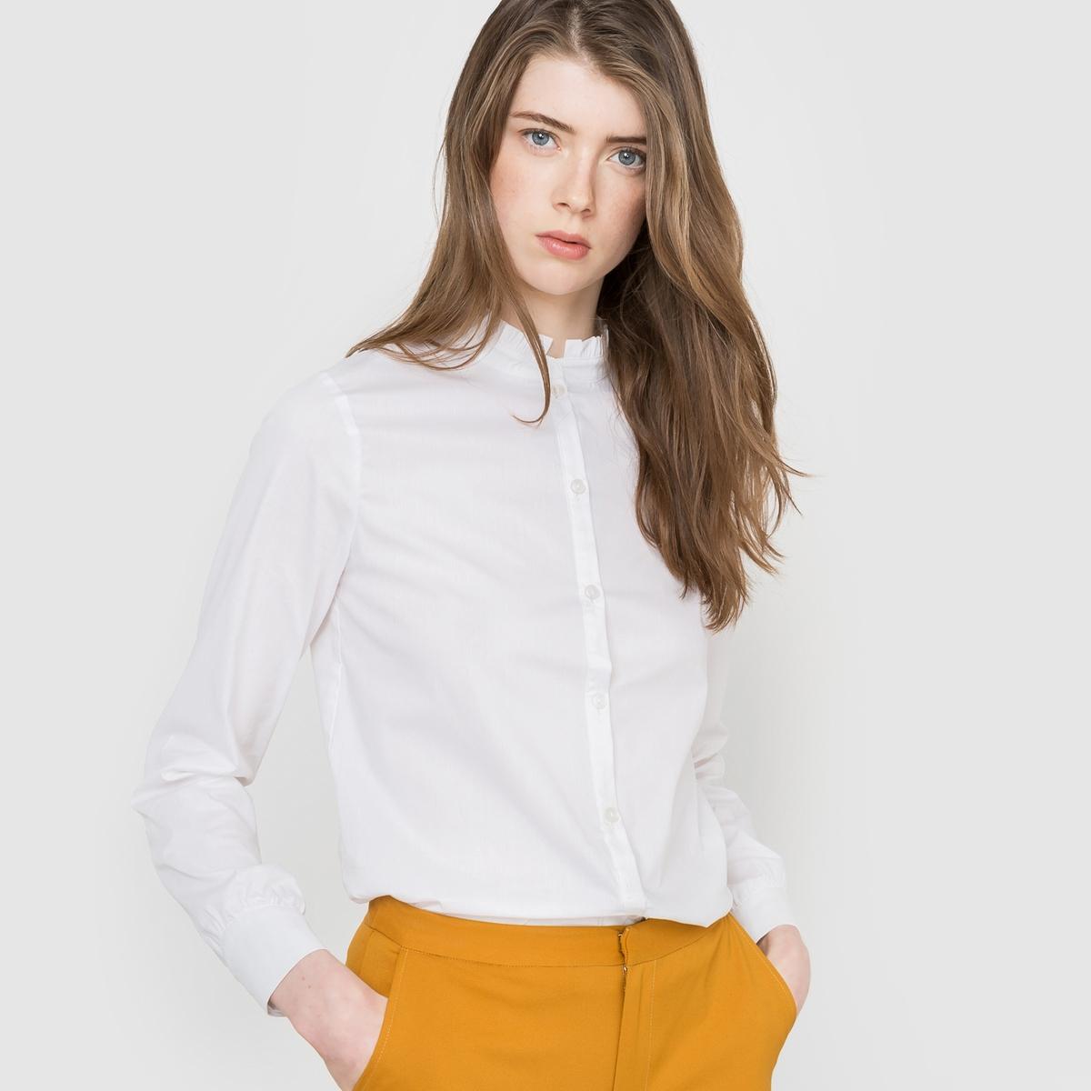 Рубашка с обшивкой ворота