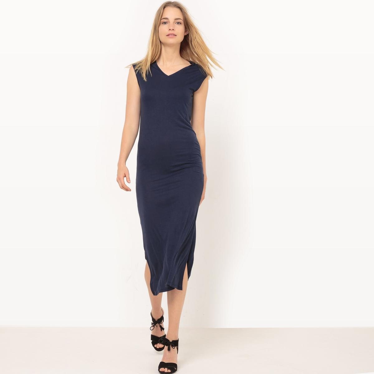 Платье длинное из струящейся вискозы