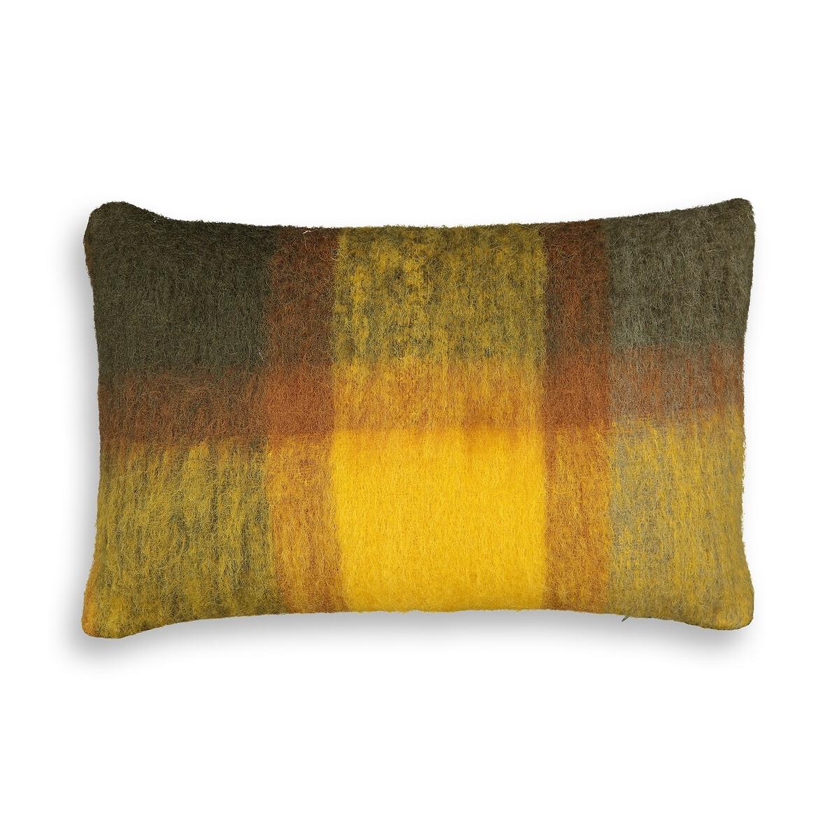 Чехол LaRedoute На подушку из шерсти Asama 60 x 40 см зеленый