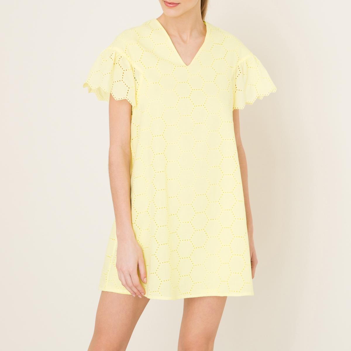 Платье HEMMAСостав и описание Материал : 100% хлопокДлина : 85 см. для размера 36Марка : PAUL AND JOE SISTER<br><br>Цвет: желтый