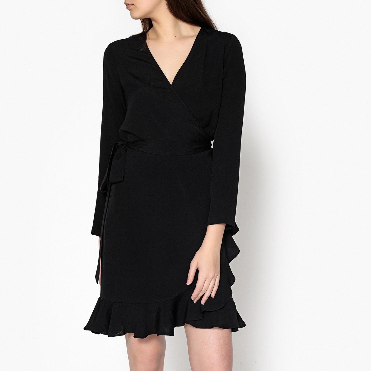 Платье с запахом и воланом LIMON