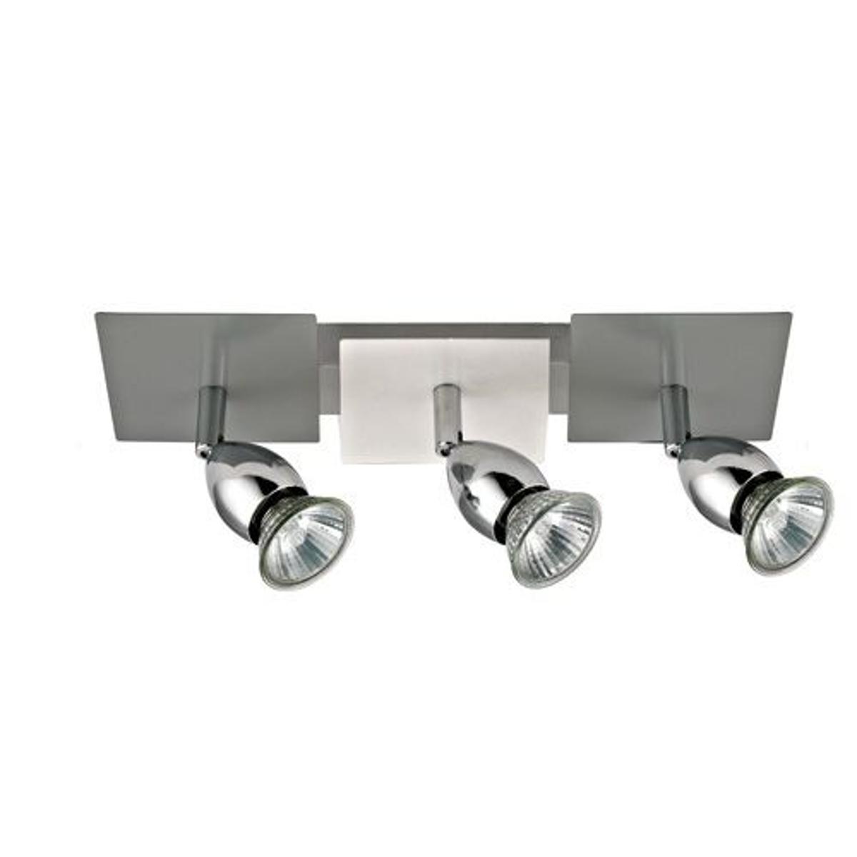 Barrette de spots 3 lumières LACHLAN grise en métal