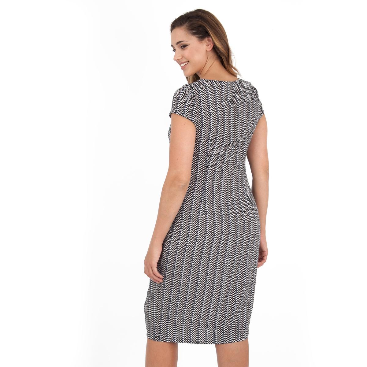 ПлатьеПлатье с короткими рукавами - LOVEDROBE. Круглый вырез. Длина ок.104 см. 100% полиэстера.<br><br>Цвет: набивной рисунок<br>Размер: 46 (FR) - 52 (RUS)