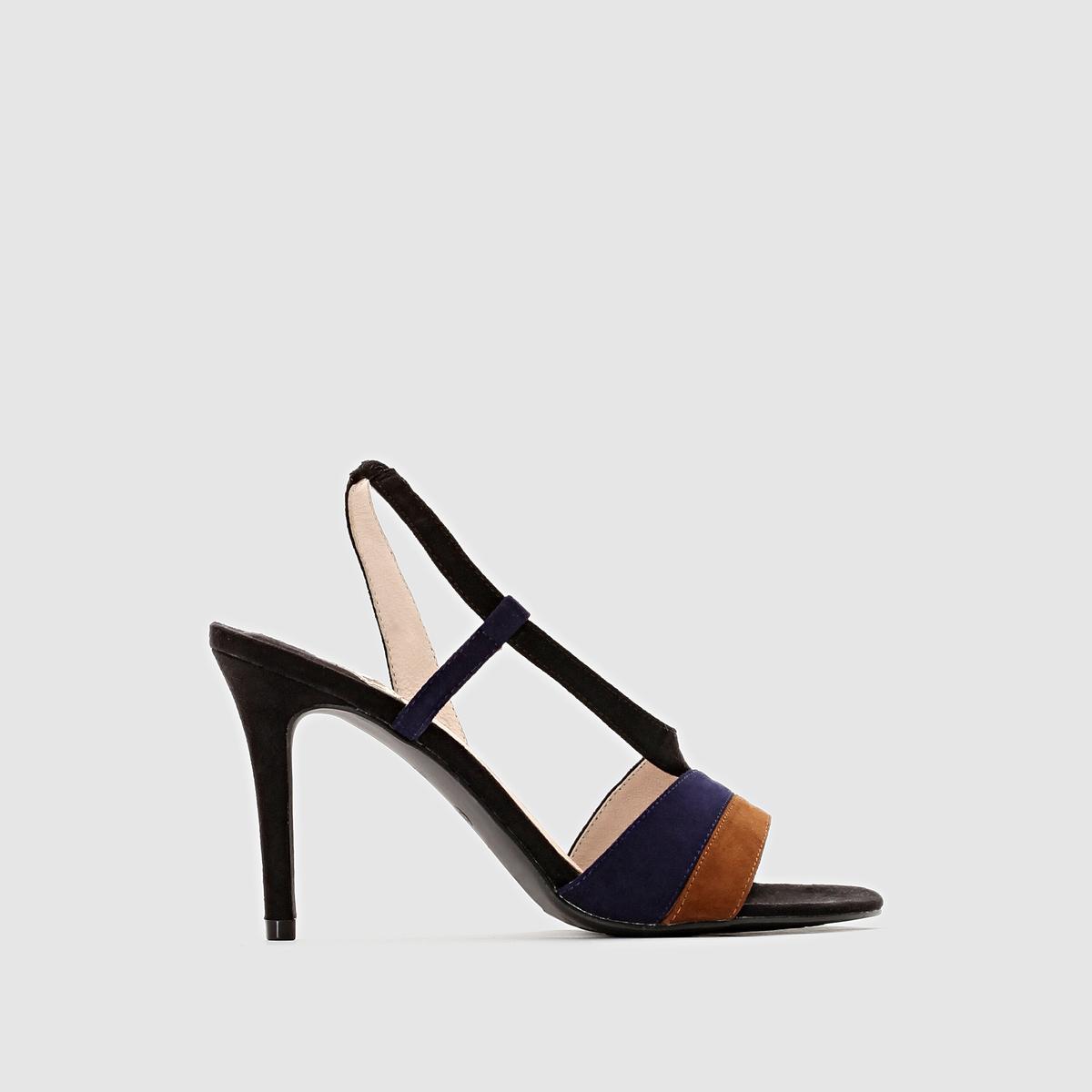 СандалииПодкладка : кожа.     Стелька : кожа+текстильПодошва : из эластомера     Высота каблука : 9 см     Преимущества : Эластичный, очень удобный ремешок       Мы советуем выбирать обувь на размер меньше, чем ваш обычный размер.<br><br>Цвет: бежевый,черный<br>Размер: 39.41.36.38.41