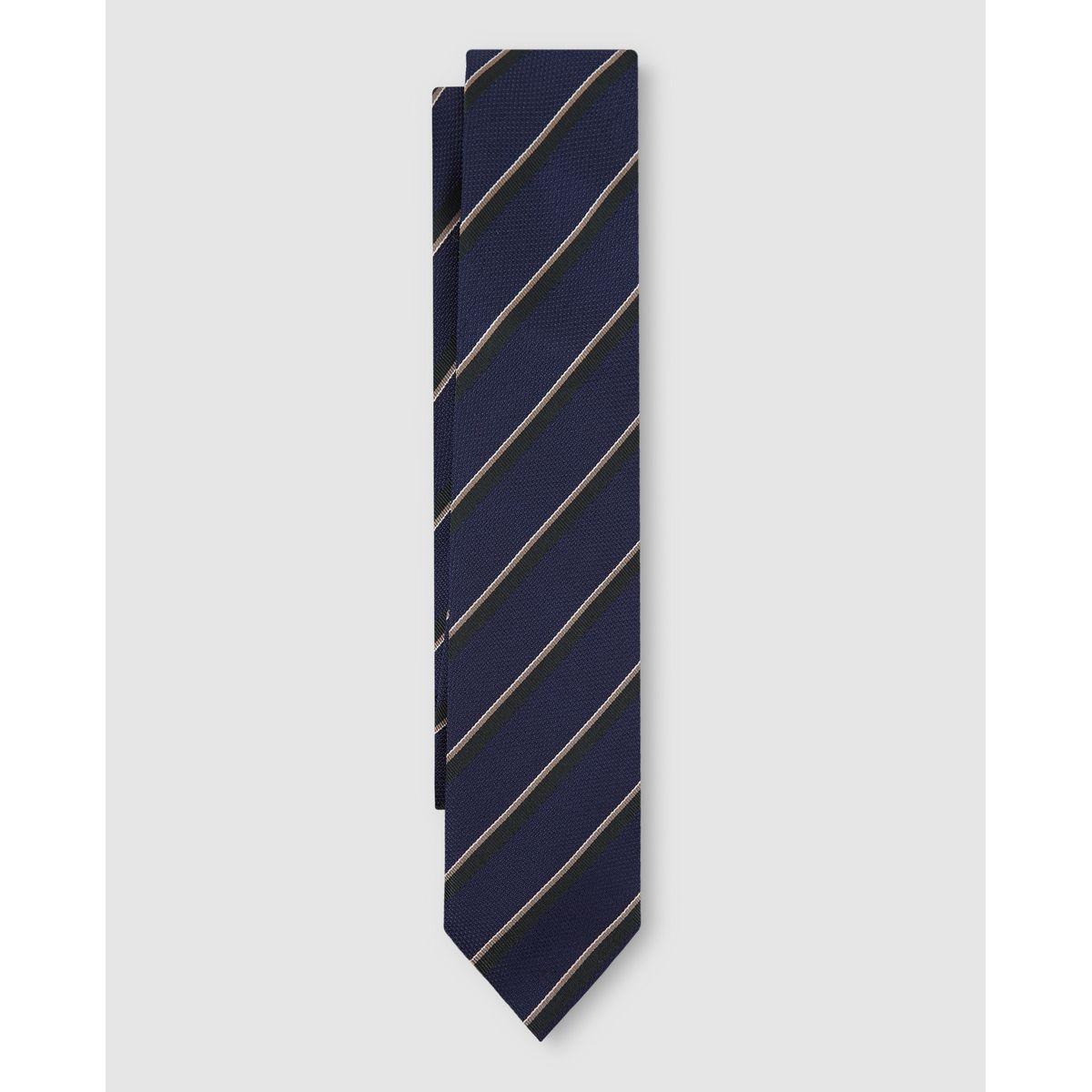 Cravate en soie naturelle à motif s