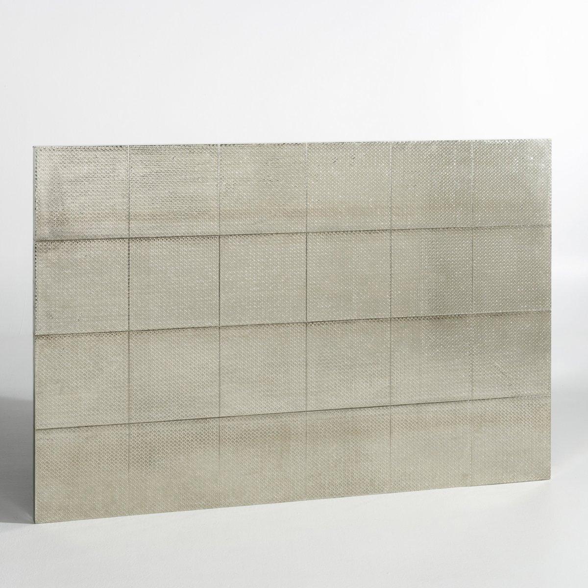 "Kopfteil \""Luba\"", gehämmertes Metall, H. 120 cm"