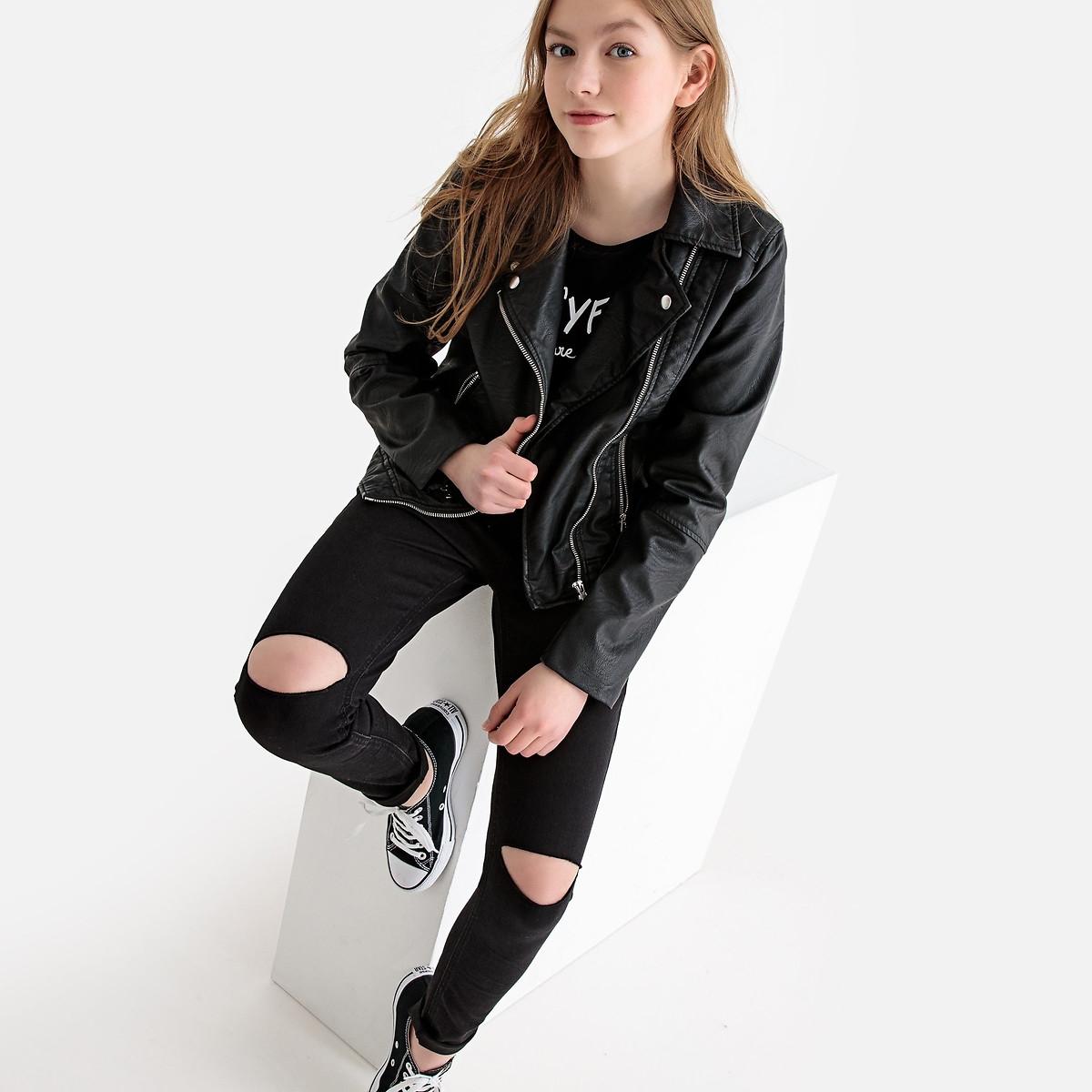 Фото - Джинсы LaRedoute Скинни 10-16 лет 16 черный джинсы laredoute скинни длина 30 s черный
