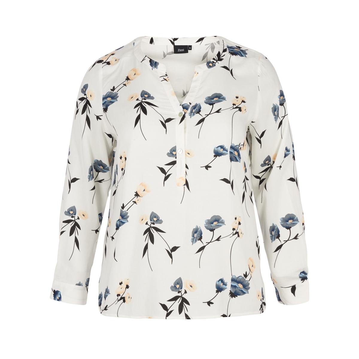Блузка с V-образным вырезом и цветочным принтом блузка с v образным вырезом cirque