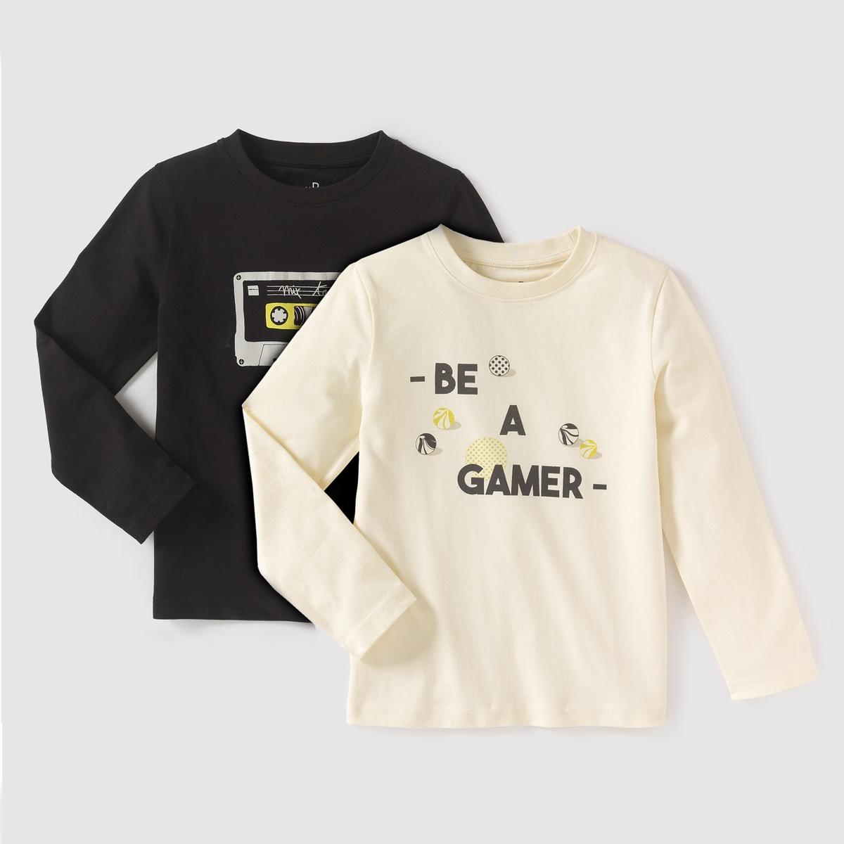 Комплект из 2 футболок с длинными рукавами