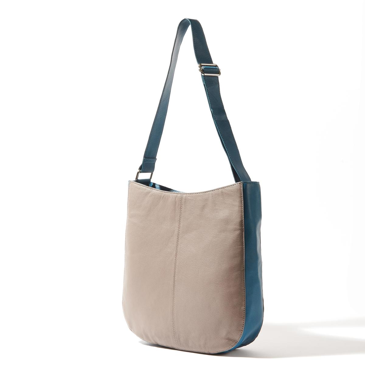 Сумка кожанаяКожаная двухцветная сумка, R essentiels.Практичная и модная сумка контрастных цветов. Состав и описаниеМатериал : верх из козьей кожи                  подкладка из текстиляМарка : R essentiels.Размеры :  Ш35 x В32 x 5,5 смЗастежка : молнияМожно носить через плечо.2 кармана для мобильных1 карман на молнииРегулируемый ремень.<br><br>Цвет: красный/темно-бежевый,сине-серый<br>Размер: единый размер.единый размер