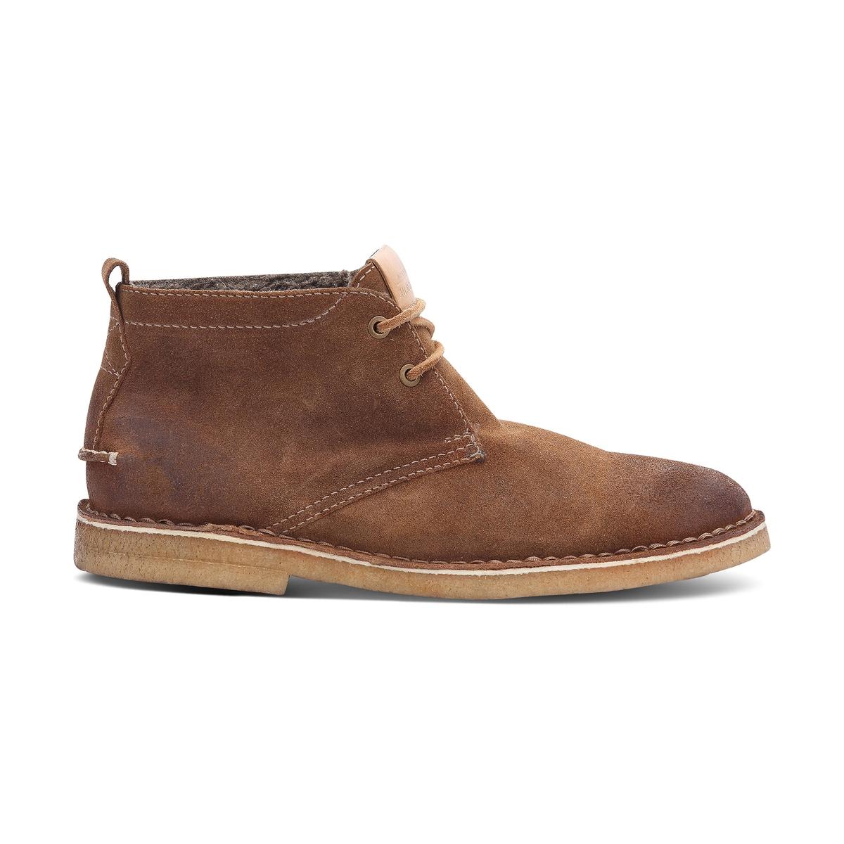 Ботинки кожаные FenixПодкладка : Кожа   Стелька: Кожа   Подошва: КаучукФорма каблука : Плоский каблук   Мысок: КруглыйЗастежка : Шнуровка<br><br>Цвет: темно-коричневый<br>Размер: 42