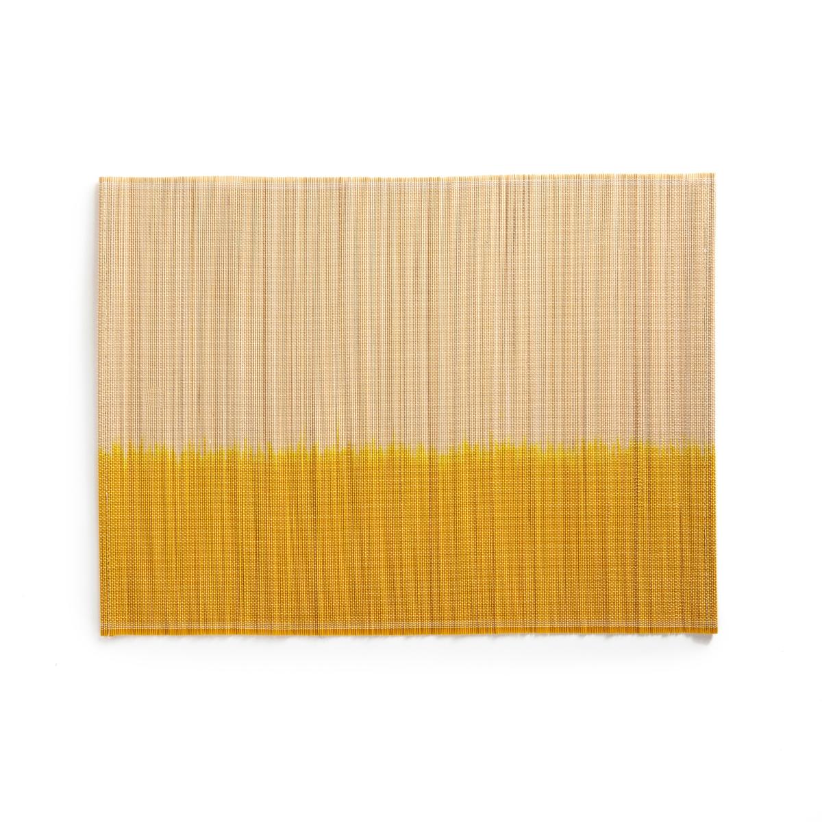 Подложка под приборы из бамбука DAYEM (4 шт.)Описание:4 подложки под приборы La Redoute Interieurs из бамбука, эффект тай-энд-дай, натуральный стиль.Характеристики 4 подложек под приборы: •  Частично окрашенный бамбук •  Декор в стиле тай-энд-дайРазмеры 4 подложек под приборы: •  Размер : 45 x 33,5 смВсю коллекцию столового декора вы найдете на сайте laredoute.<br><br>Цвет: желтый,синий,черный