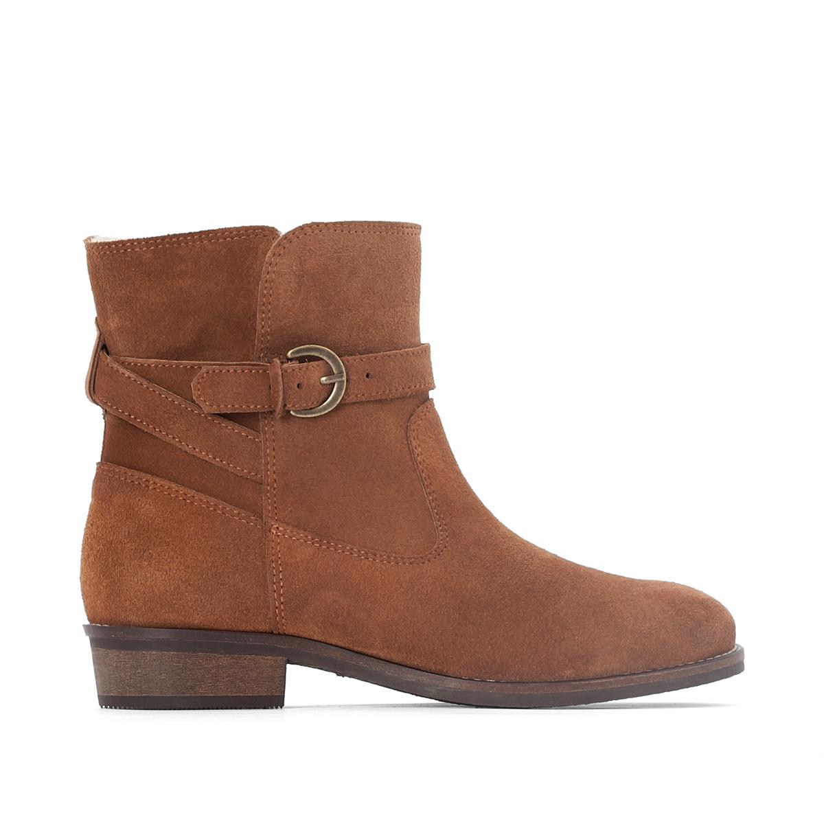 Ботинки кожаные на меху цены онлайн