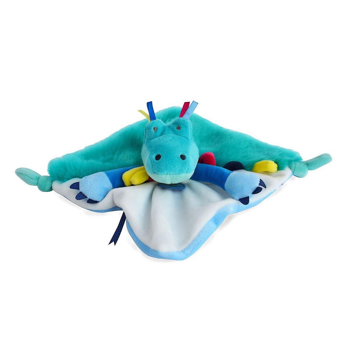 An image of Doudou Et Compagnie Newborn Tropicool Crocodile Comforter - 22cm