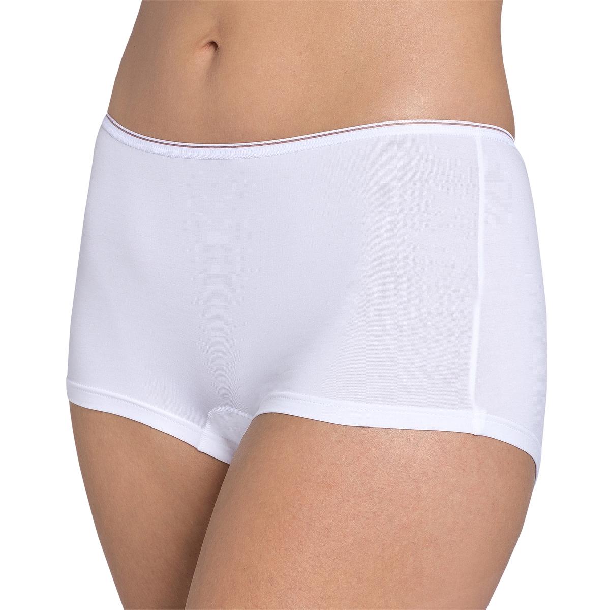 4 трусов-боксеров Feel SensationnalПростая форма, совершенный дизайн, идеальны при носке . Вы оцените их невероятную мягкость и прочность на протяжении многих стирок . Ажурная отделка пояса . Ластовица на подкладке из хлопка  .                                Состав и описание                        Материал      46% полиамида, 44% хлопка, 10% эластана                                                           Уход                        Машинная стирка при 30 °С в деликатном режиме, желательно в защитном чехле                        Стирать и гладить с изнаночной стороны, стирать с вещами схожих цветов<br><br>Цвет: белый,телесный,черный<br>Размер: 38 (FR) - 44 (RUS).46 (FR) - 52 (RUS)