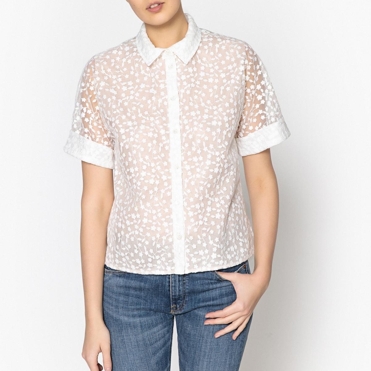 Рубашка из тюля с вышивкой PHIBBIE рубашка с вышивкой