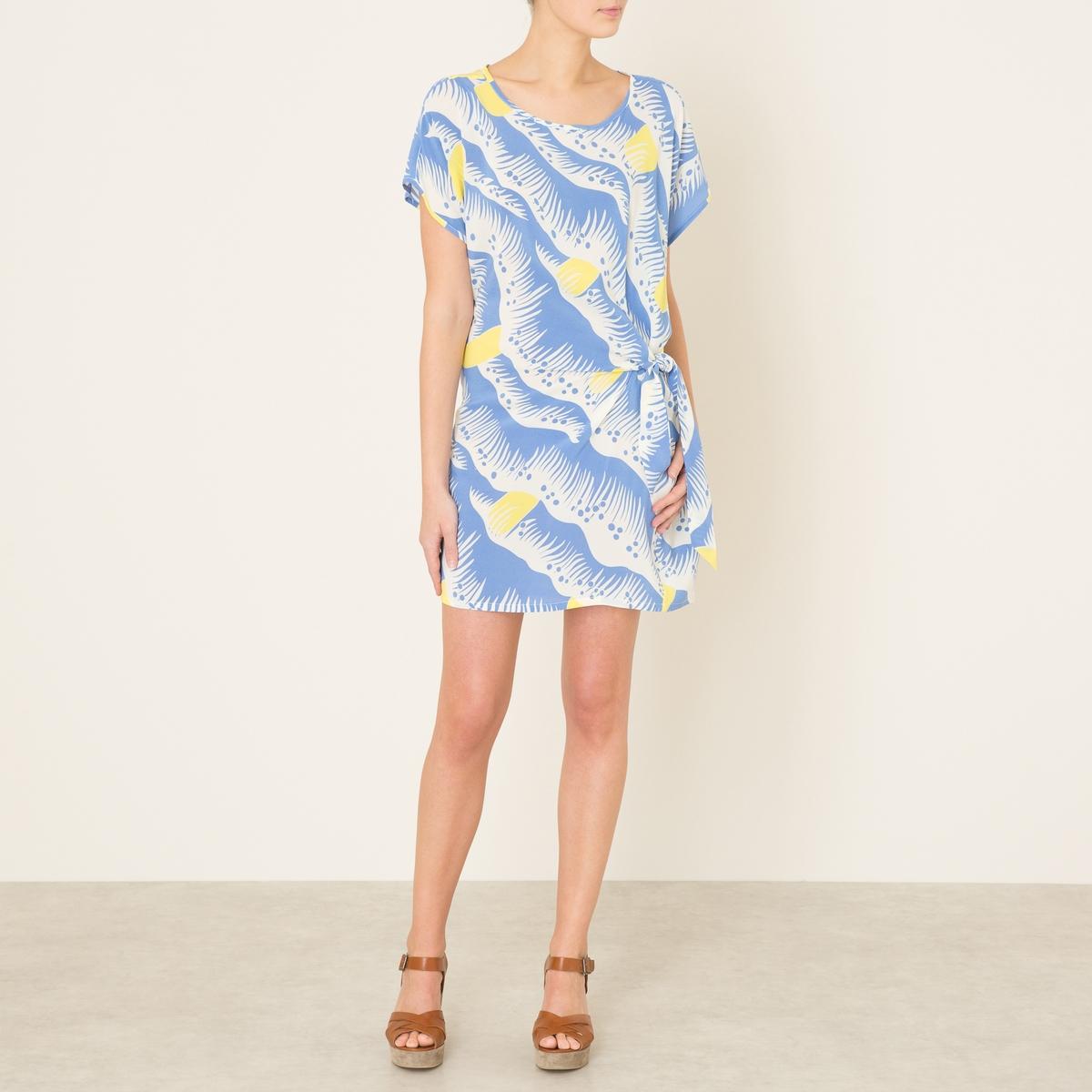 Платье YITAСостав и описание    Материал : 55% вискозы, 45% шелка   Длина : ок.88 см. для размера 36   Марка : TOUPY<br><br>Цвет: наб. рисунок синий