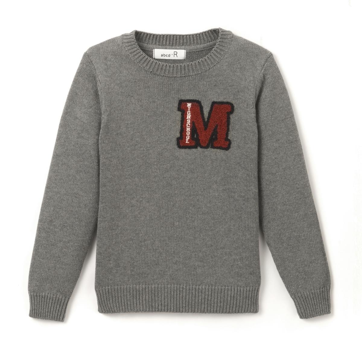 Пуловер в стиле тедди, 3-12 лет