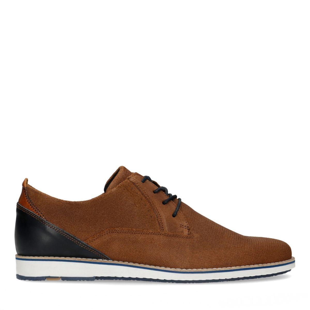 Chaussures à lacets en daim