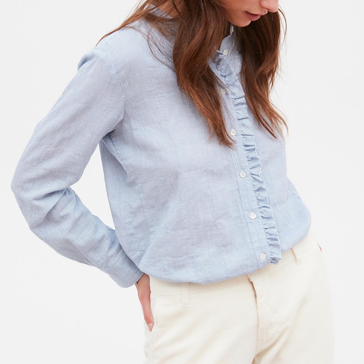 Рубашка с воротником-стойкой и длинными рукавами CANAILLE marni рубашка с длинными рукавами